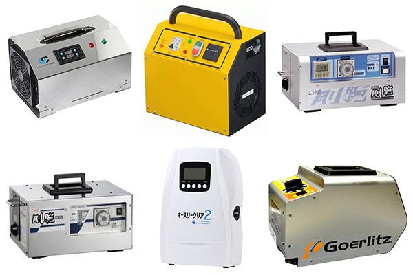 オゾンプラスに登録されている業務用オゾン発生器上位6機種