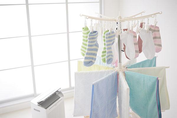 洗濯物同士の隙間を空ける