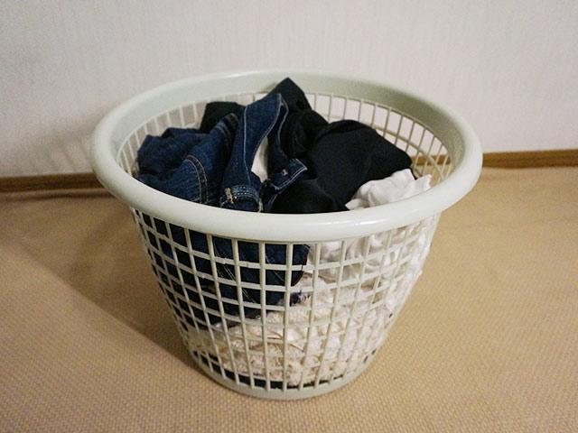 検証のため3日放置した洗濯物