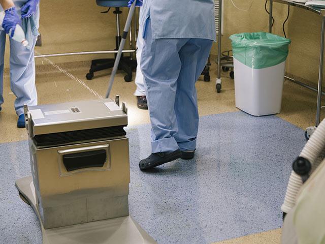 患者さんへの殺菌